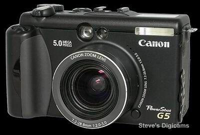 معرفی دوربین – Canon Powershot G5