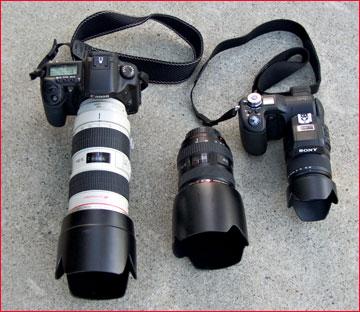 مقابله دوربین های دیجیتال با DSLRها