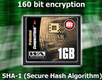 Lexar Pro Cards with Encryption Technology