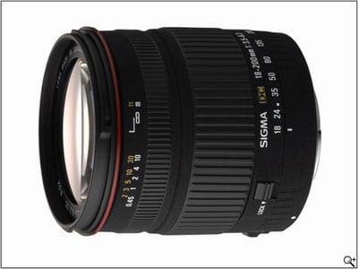 معرفی لنز Sigma 18-200mm F3.5-6.3 DC