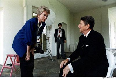 تنها عکاس زن درون کاخ سفید