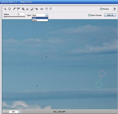 رتوش و ترمیم غیر تخریبی در Adobe Camera RAW