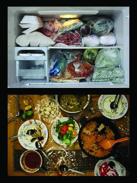 ۴.یخچال و فریزر- خانواده حسن خان