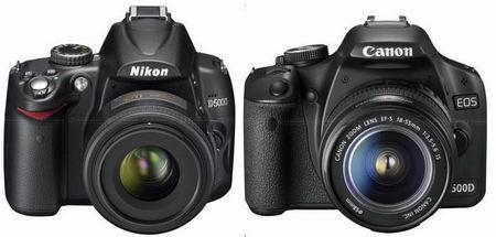 مقایسه دوربین نیکون D5000 و دوربین کانن ۵۰۰D