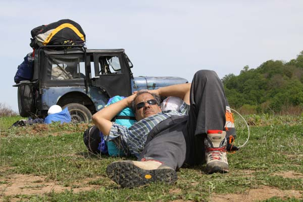 محمدرضا رسولی، حوالی بهشهر،استراحت در مسیر مینودشت