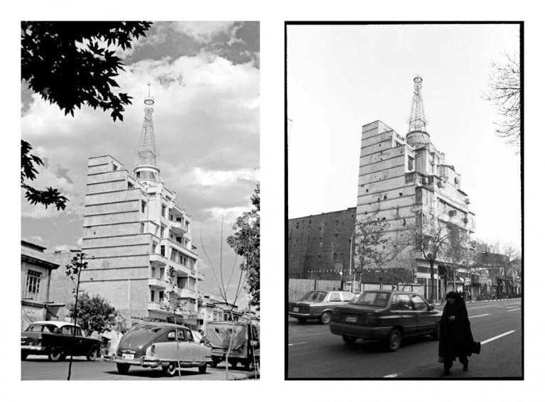 از مجموعه تجربه دوباره نگریستن . خیابان جمهوری، ساختمان المی، . عکاسی آنالوگ . ۳۰×۲۰ سانتیمتر . ۱۳۸۴