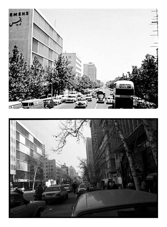 از مجموعه تجربه دوباره نگریستن . خیابان طالقانی،  عکاسی آنالوگ . ۳۰×۲۰ سانتیمتر . ۱۳۸۴