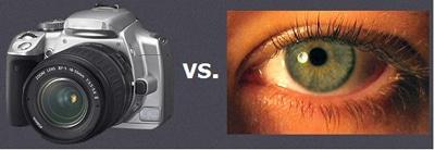مقایسهای میان دید چشم انسان با دوربین عکاسی