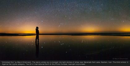 موفقیت عکاس ایرانی در مسابقه Earth & Sky ۲۰۱۴