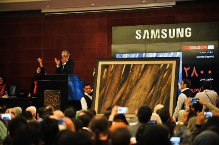 چهارمین حراج هنری تهران با رکوردشکنی سهراب سپهری