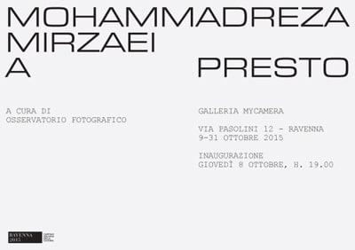 برگزاری نمایشگاه عکس محمدرضا میرزایی در ایتالیا