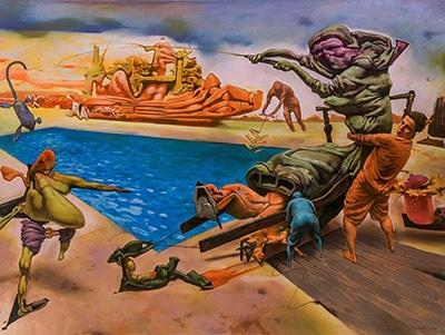 نقاشیهای مهران صابر در گالری آران