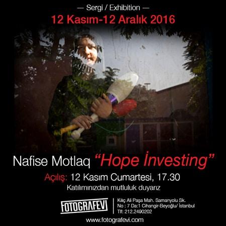 نمایشگاه عکس «سرمایهگذاری امید» در استانبول