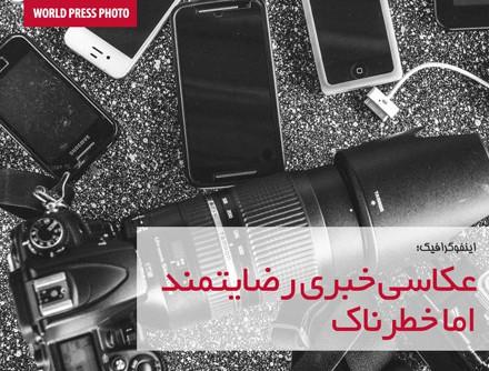 اینفوگرافیک؛ عکاسی خبری رضایتمند اما خطرناک
