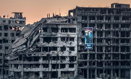 تراژدی سوریه؛ شهرهای اسکلتوار و تکتیراندازها