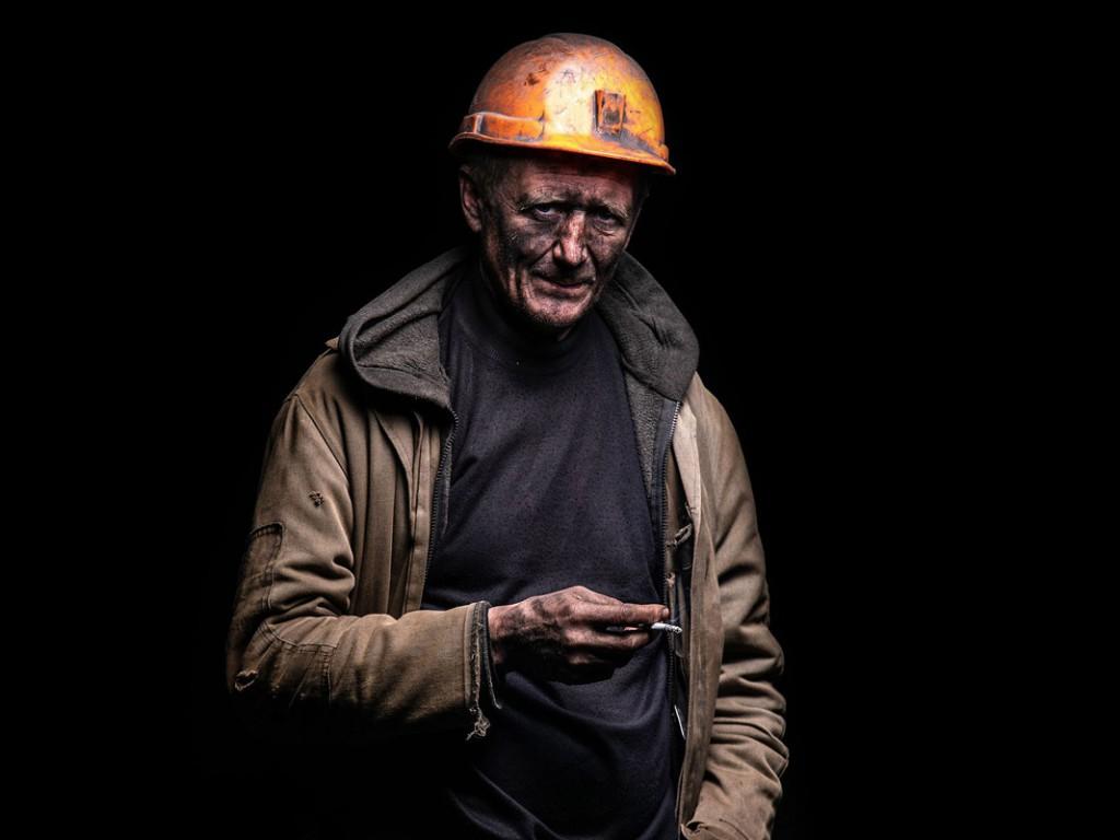 Samuel Eder از اتریش، معدنچی، از مجموعهی «چهرههای دانباس»