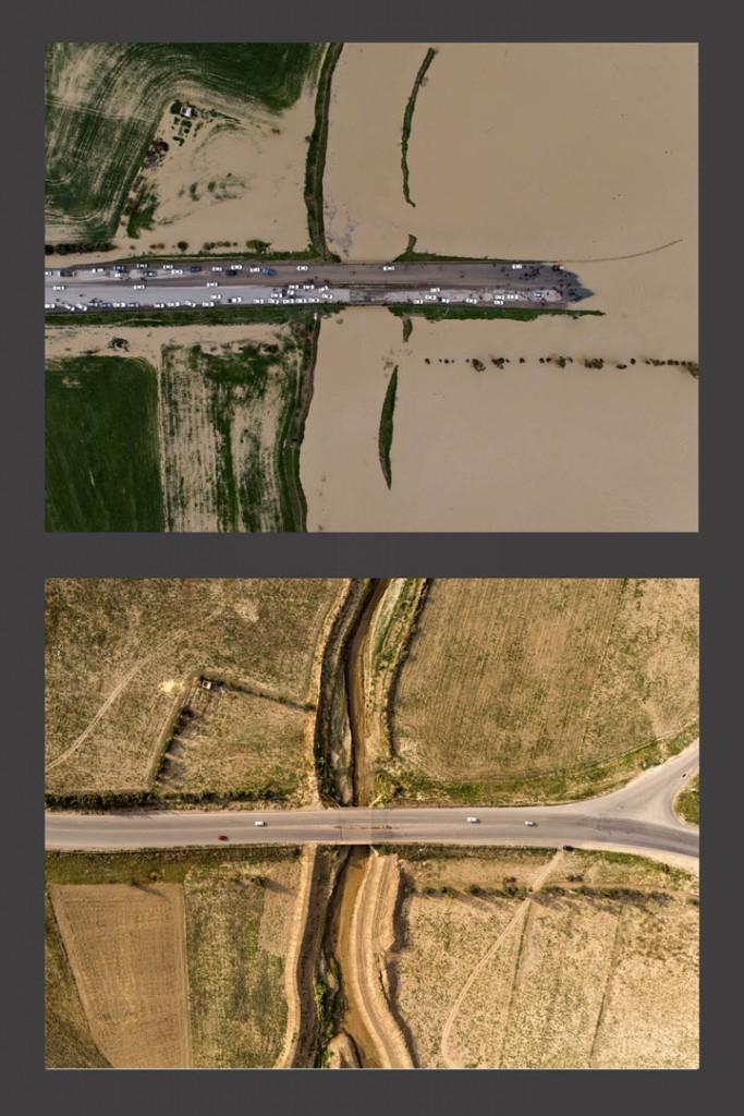 محمد حسین مهیمنی، رتبه اول بخش «ویژه عکسهای مقایسهای» مسابقه عکاسی سیلاب 97 و 98