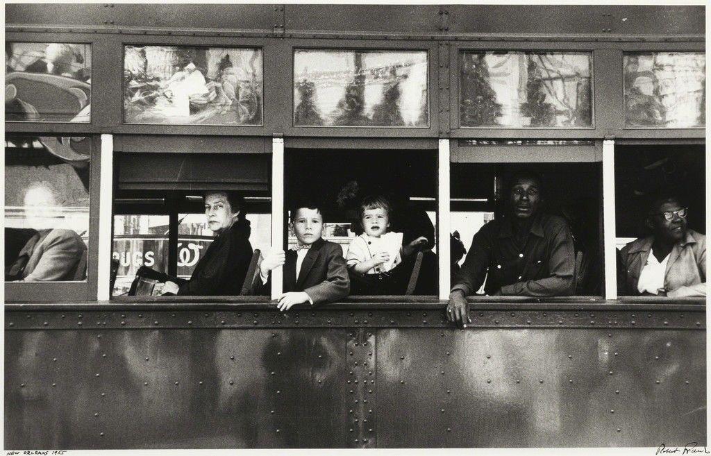 رابرت فرانک. اتوبوس برقی، نیو اُرلیئنز، ۱۹۵۵