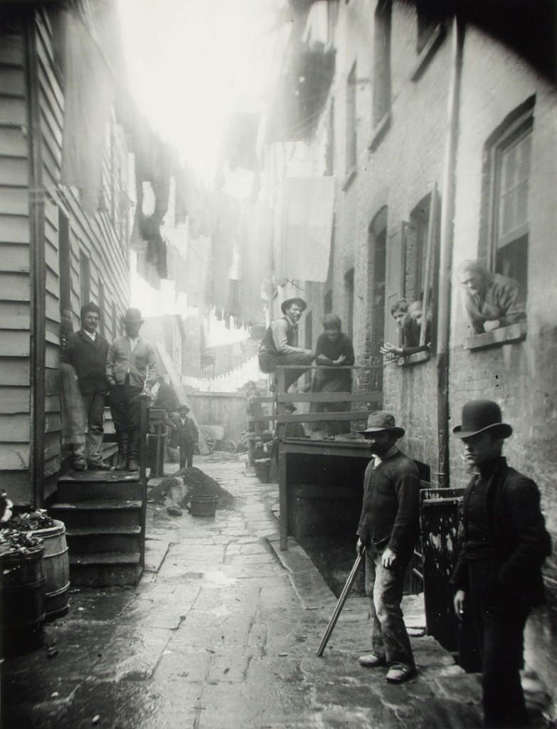 جیکب ریس. بیتوته راهزنان (خیابان 59 مالبری در نیویورکسیتی)، 1888