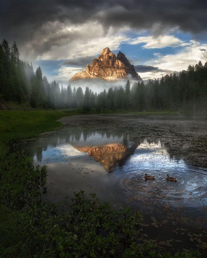 Miller Yao. دریاچه Antorno، ایتالیا. از عکسهای منتخب مسابقه عکاسی عکاس منظره سال 2019