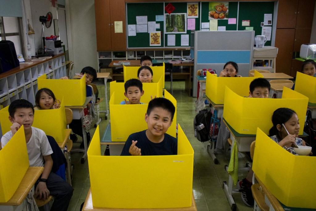 Jerome Gence و Chi-Hui Lin. مدرسه ابتدایی دایجا، تایپه، تایوان، 6 می 2020