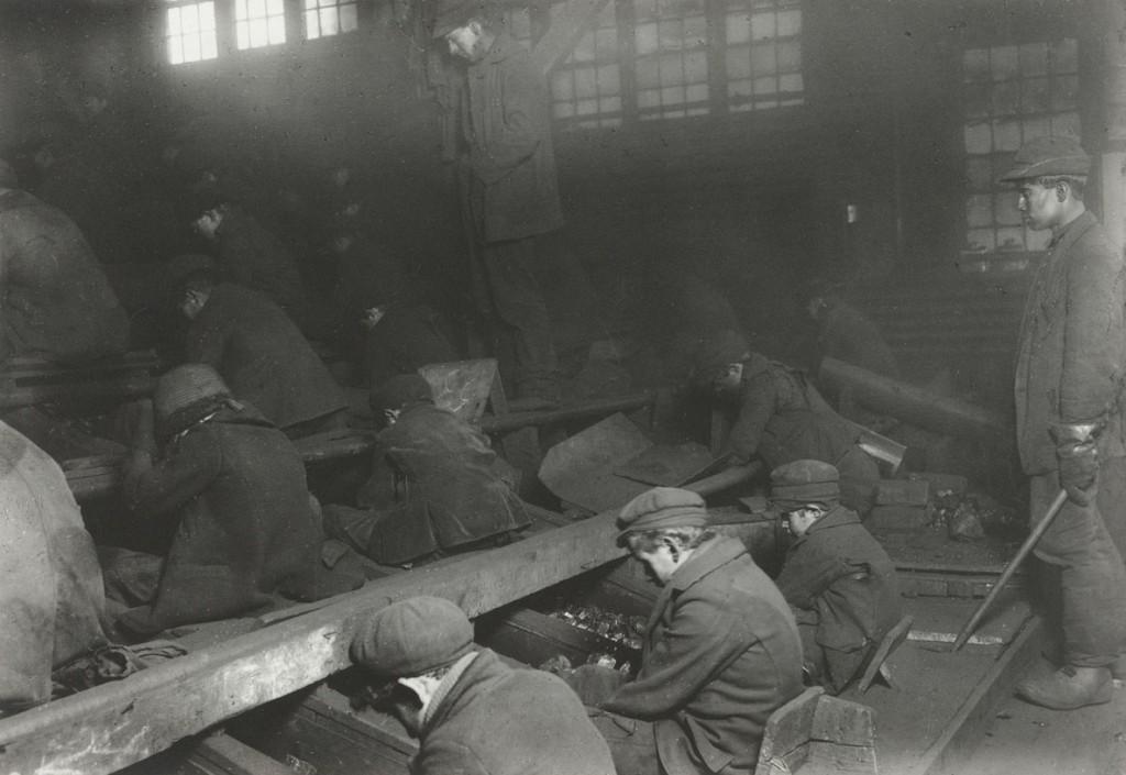 لوئیس هاین. سنگشکنها در معدن زغالسنگی در پنسیلوانیا، 1911