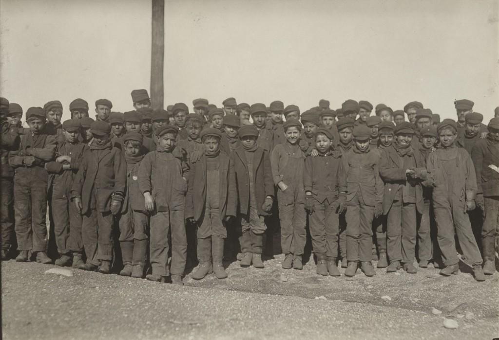 لوئیس هاین. سنگشکنان، پیتستن، پنسیلوانیا، ژانویه 1911
