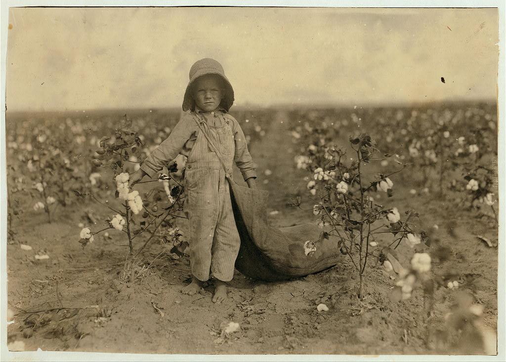 لوئیس هاین. هرلد واکر پنج ساله، کمانچی کانتی، اکلاهاما، 10 اکتبر 1916