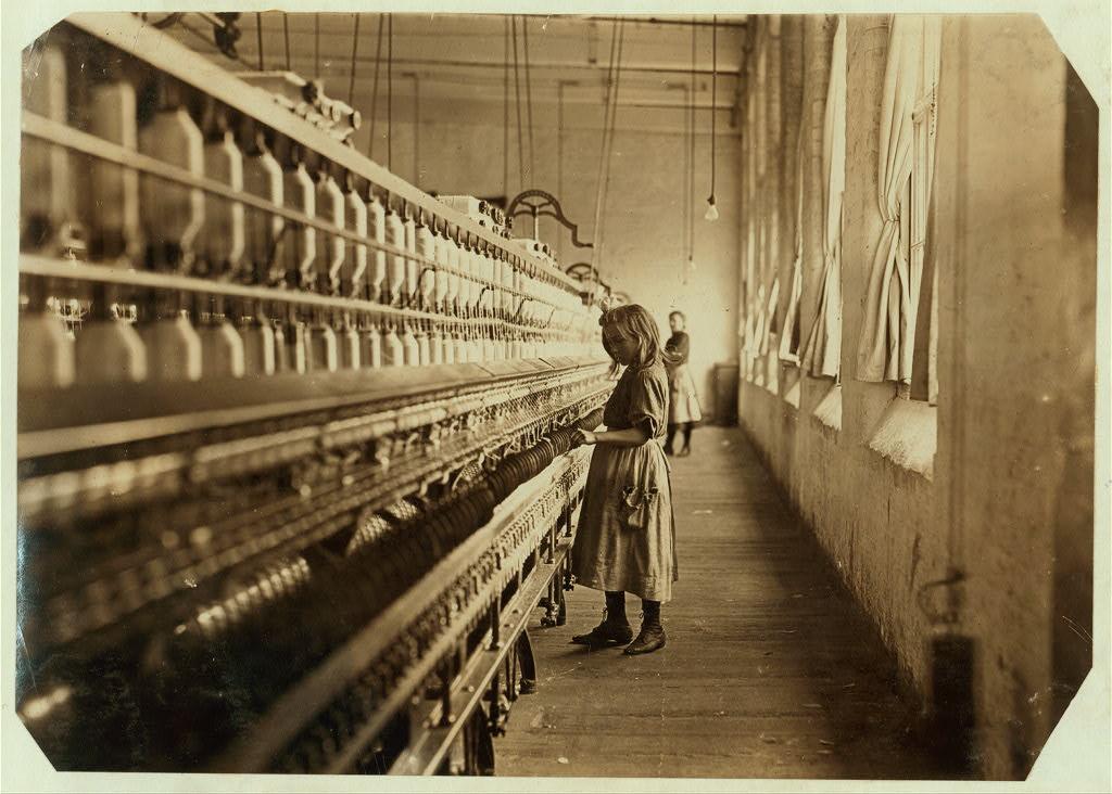 لوئیس هاین. سِیدی فایفر، نخریس کارخانه، کرلینای شمالی، 1910