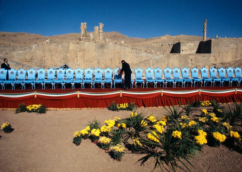 برونو باربی. جشن 2500مین سالگرد پادشاهی ایران، تخت جمشید، 1971