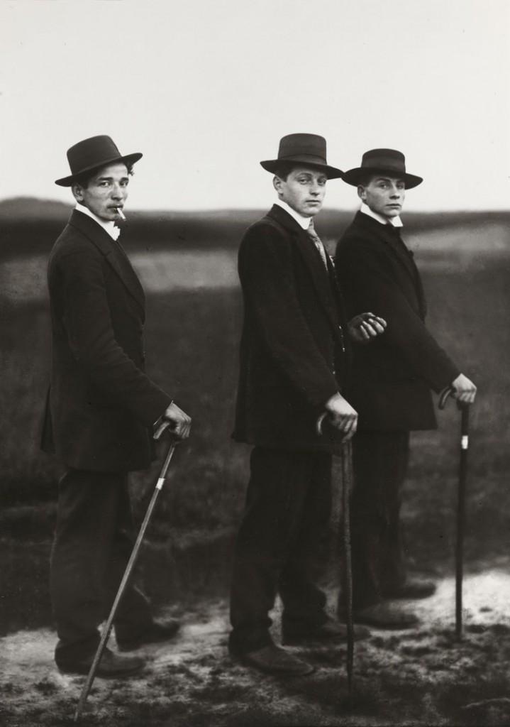 آگوست زاندر. کشاورزان جوان، 1914