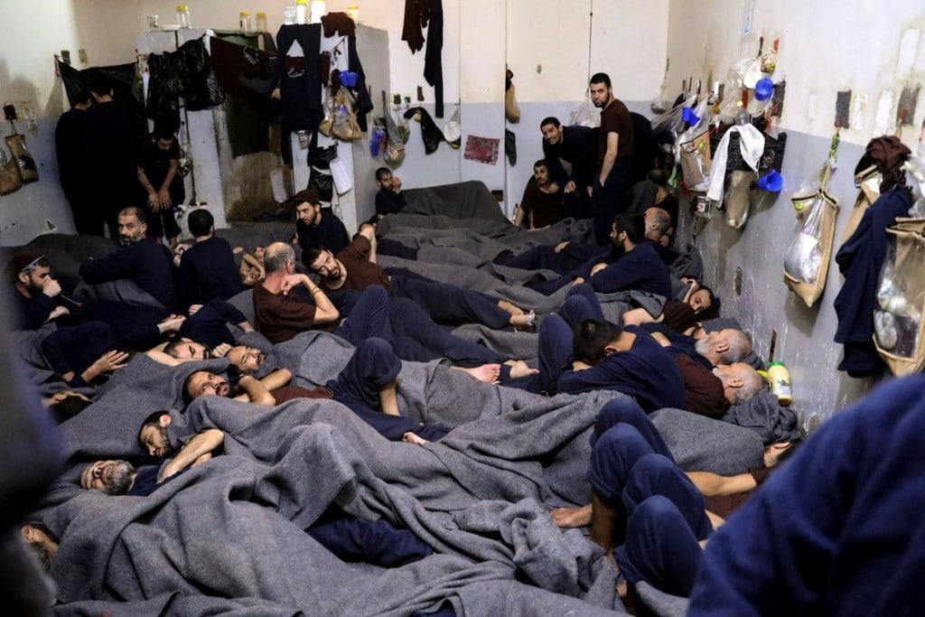 Goran Tomasevic از رویترز. زندانیان خارجی مظنون به همکاری با داعش در زندانی در حسکه، سوریه، 7 ژانویه 2020