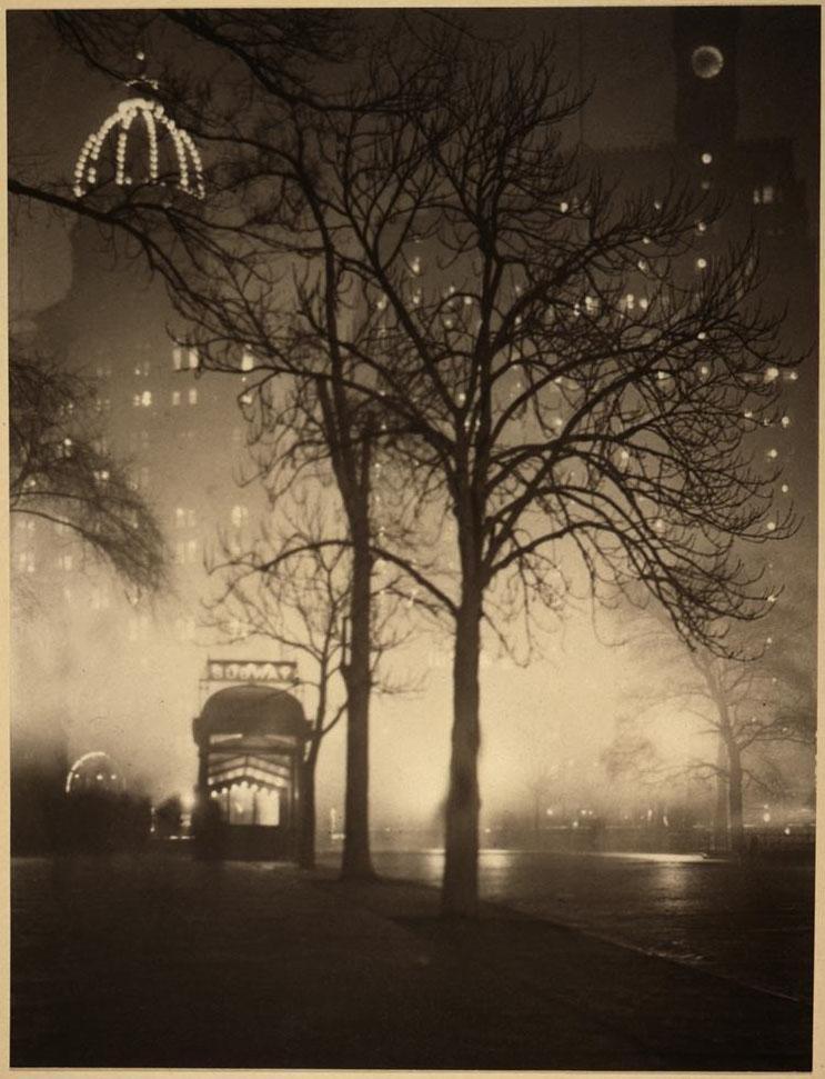 آلوین لنگدن کابرن. میدان تایمز (درخت کریسمس)، 1912