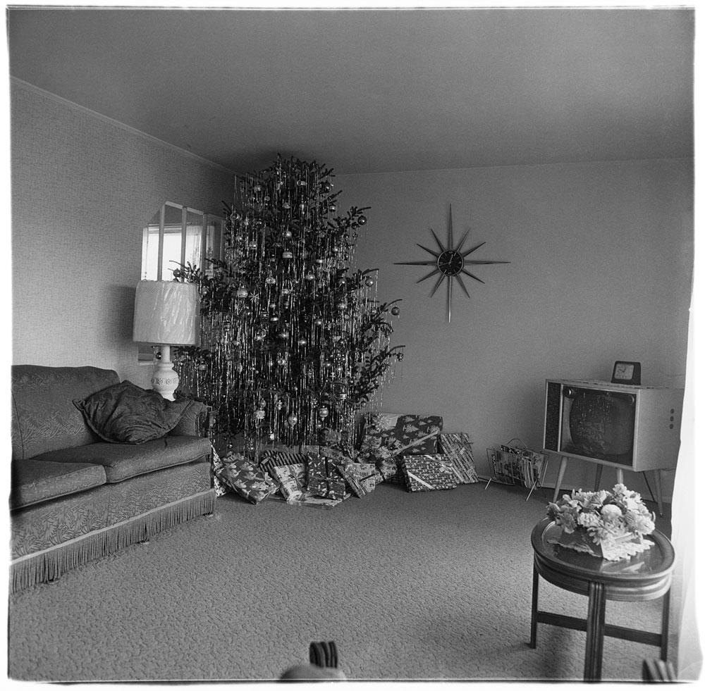 دایان آربس. درخت کریسمس در اتاق نشیمن، لِویتاون، نیویورک، 1962