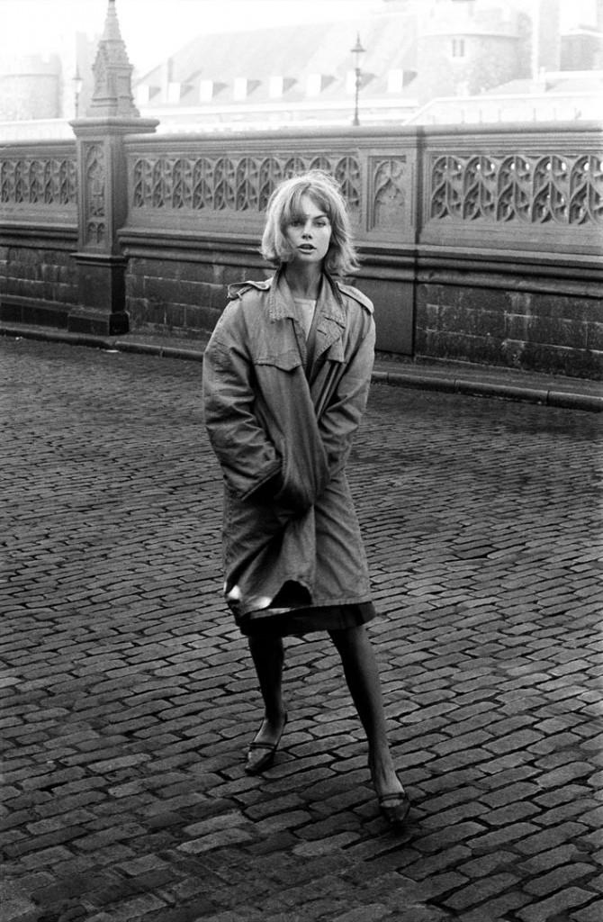 دیوید بیلی. جین شریمپتن روی تاور بریج، 1964