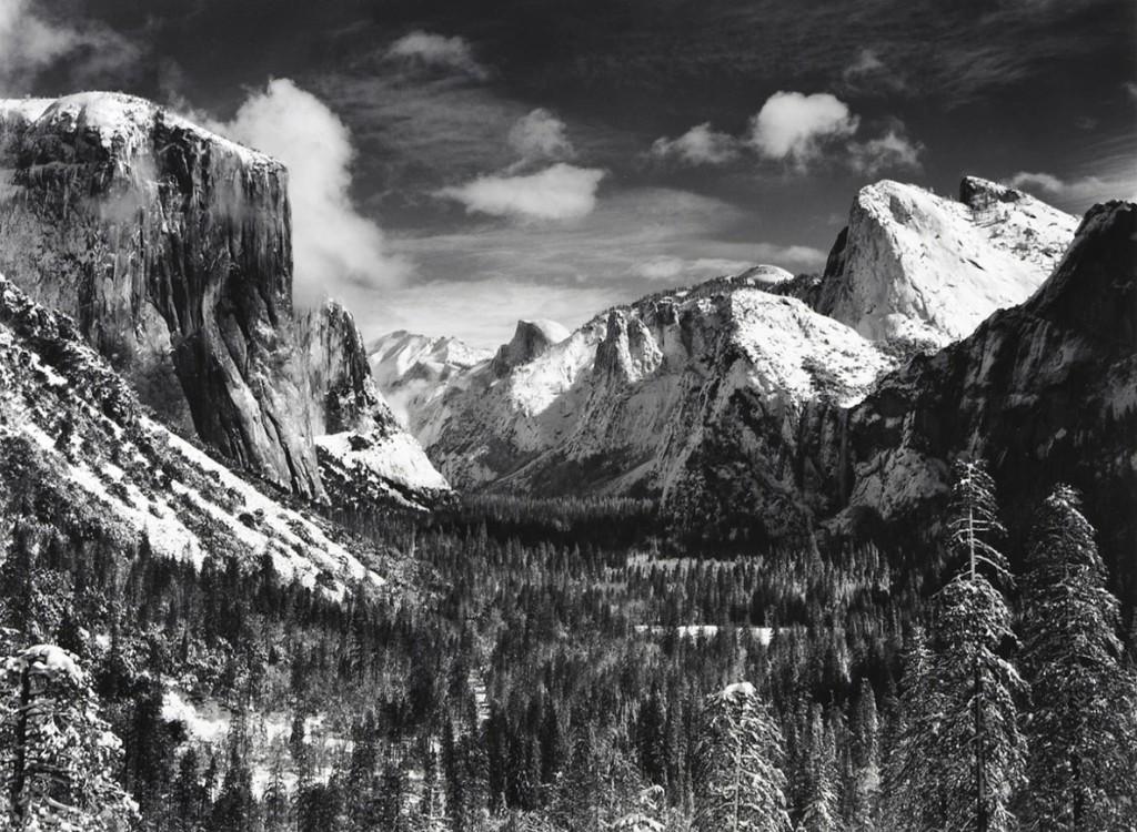 انسل آدامز. زمستان دره یوسمیتی