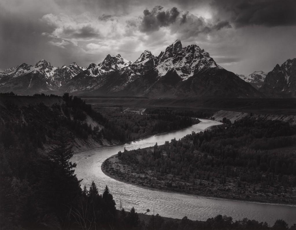 انسل آدامز. کوهستان تیتونز و رود اسنِیک، وایومنیگ، 1942
