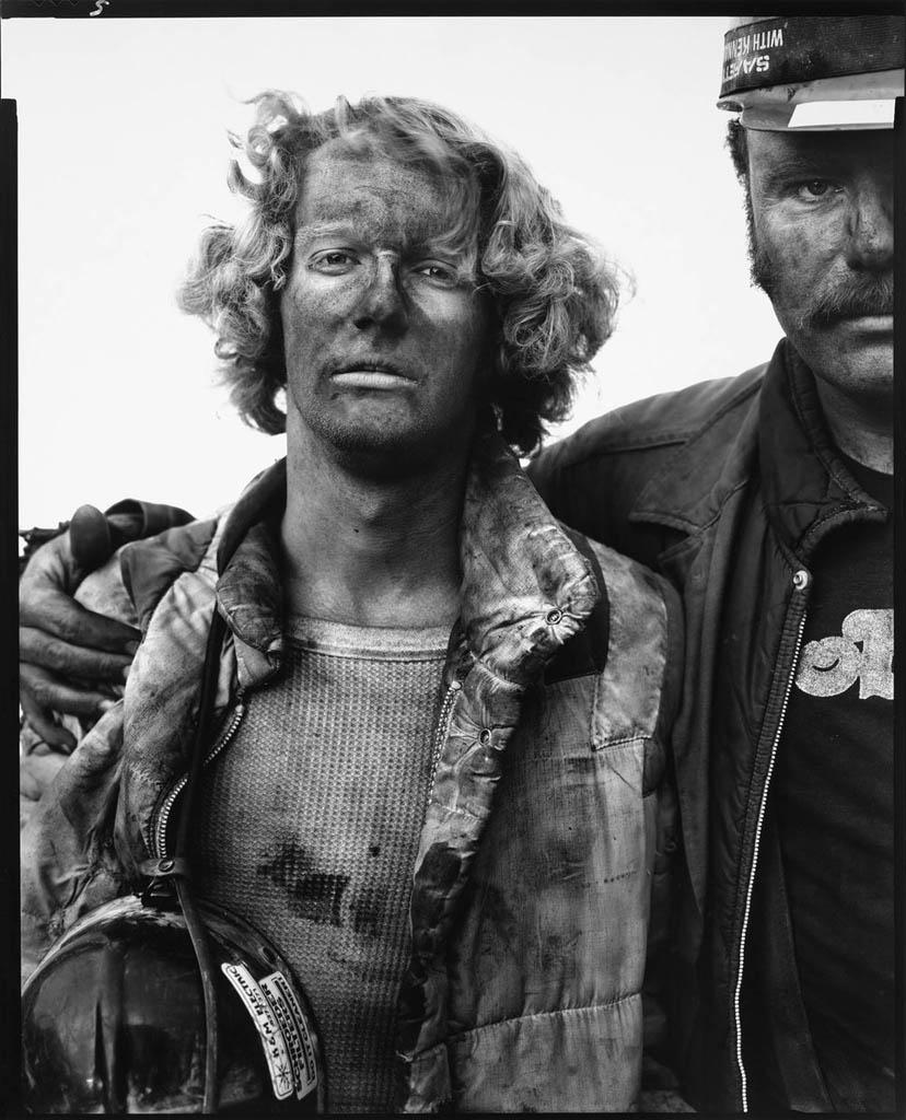 ریچارد اودان. «مایک بِنْسیچ و دَن اَشْبِرگِر، معدنچیان زغالسنگ، سامرسِت، کلرادو»، 29 آگوست 1980